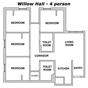 willow layout - 4 person