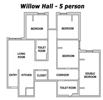 willow - 5 person