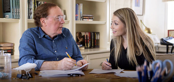 Kecia Bal with James Patterson
