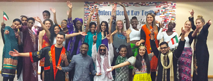 Pitt-Johnstown international students enjoy their cultures at the annual International Fair