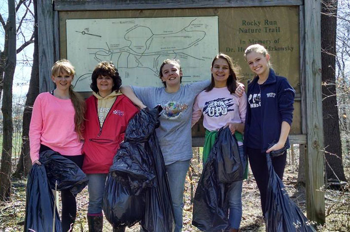 Pitt-Johnstown volunteers help preserve the natural beauty