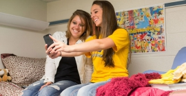Pitt-Johnstown students in their dorm room